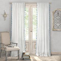 Elrene Bianca Semi Sheer Curtain Rod-Pocket Curtain Panel