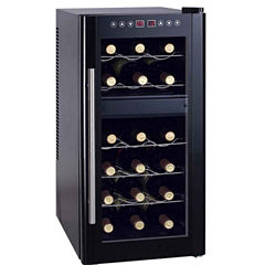 SPT WC-1857DH: Dual-Zone Thermo-Electric Wine Cooler with Heating 18-bottles