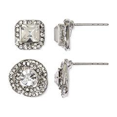 Sandra Magsamen® Cubic Zirconia Stud 2-pr. Earring Set