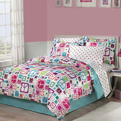 My Room Peace Out Complete Bedding Set with Sheets