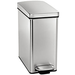 simplehuman® 10L Profile Step Trash Can In Brushed Stainless Steel