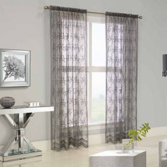 Mona Lisa Rod-Pocket Sheer Curtain Panel