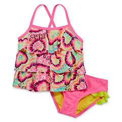 Breaking Waves Girls Tankini Set - Toddler