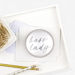 Cathy's Concepts CatBoss Lady Domed Glass Paperweight