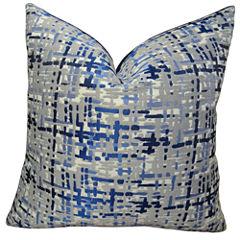 Plutus Abstract Plaid Handmade Throw Pillow