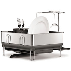 simplehuman® Compact Stainless Steel Frame Dish Rack