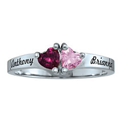Personalized Birthstones Sweetheart Couples Ring