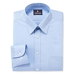Stafford® Comfort Stretch-Big & Tall Long Sleeve Dress Shirt