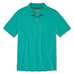 Arizona 100 Short Sleeve Polo Shirt - Big Kid Boys
