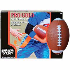 Poof Pro Gold Flag Football Set 9-pc. Combo Game Set