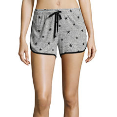 Flirtitude Knit Soft Shorts-Juniors
