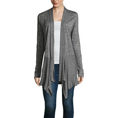 Alyx Long Sleeve Straight Neck Open Front Cardigan