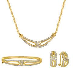 3-pc. 1/5 CT. T.W. White Diamond Gold Over Brass Jewelry Set