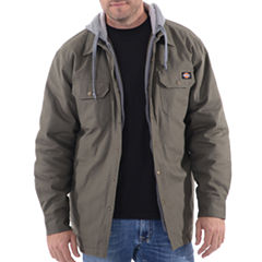 Dickies Hooded Canvas Quilt Lined Shirt Jacket