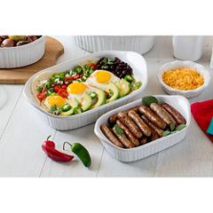 CorningWare® French White® lll 2-pc. Rectangular Bakeware Set