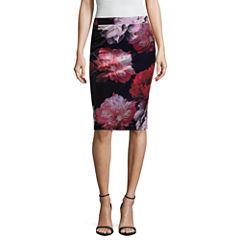 Liz Claiborne Velour Penicl Skirt- Talls