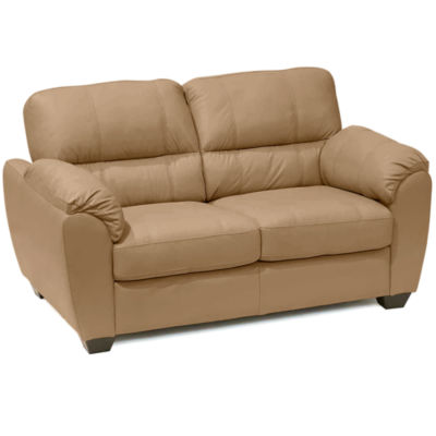 Marvelous Leather Possibilities Pad Arm Loveseat