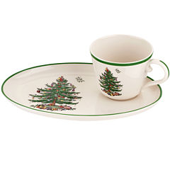 Spode® Christmas Tree Soup Mug and Sandwich Plate