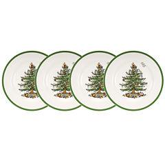 Spode® Christmas Tree Set of 4 Salad Plates