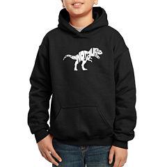 Los Angeles Pop Art Popular Dinosaur Name Hoodie-Big Kid Boys