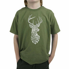 Los Angeles Pop Art Popular Types Of Deer Graphic T-Shirt-Big Kid Boys