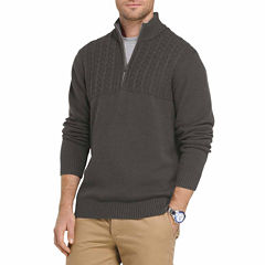 IZOD Newport Quarter Zip Sweater Long Sleeve Pullover Sweater