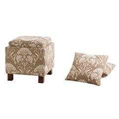 Madison Park Allison Square Storage Ottoman With Pillows
