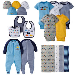 Gerber® 19 Piece Baby Boy Cars Layette Gift Set