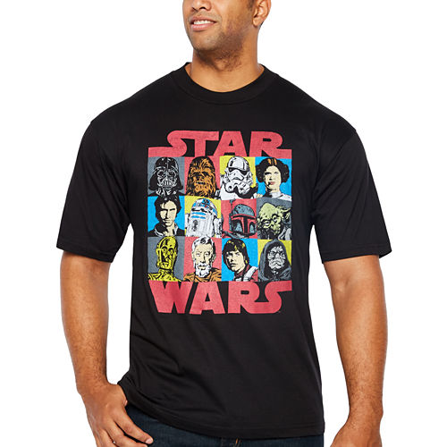 Starwars Group Short Sleeve Graphic T-Shirt-Big and Tall