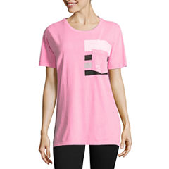 Flirtitude Short Sleeve Round Neck Graphic T-Shirt
