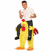 Ride a Chicken Adult Costume - One Size Fits Most