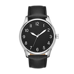 Mens Black Strap Watch-Fmdjo123