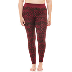 Fleece Lined Leggings-Juniors Plus