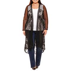 Boutique + Lace Kimono-Plus