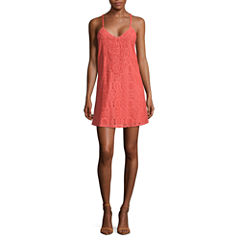 Swat Sleeveless A-Line Dress-Juniors
