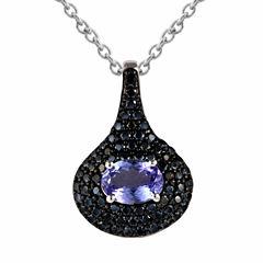 Womens Purple Chrome Diopside Pendant Necklace