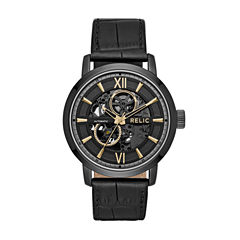 Relic Mens Brown Strap Watch-Zr77283