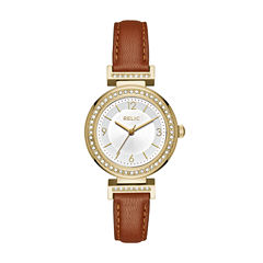 Relic Womens Brown Strap Watch-Zr12235