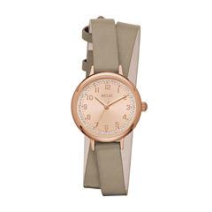 Relic Womens Gray Strap Watch-Zr12225