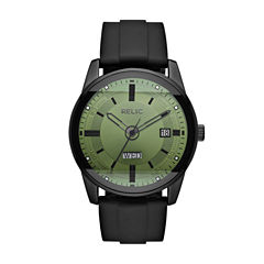 Relic Mens Black Strap Watch-Zr12227