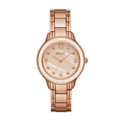 Relic Womens Rose Goldtone Bracelet Watch-Zr34410