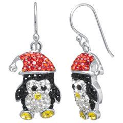Sparkle Allure Multi Color Silver Over Brass Drop Earrings