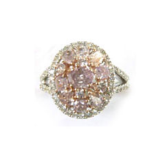 Womens 7/8 CT. T.W. Genuine Pink Diamond 18K Gold Engagement Ring