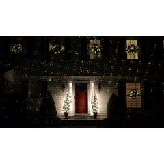 Outdoor Dynamic Red & Green Christmas Laser LightProjector with Remote Control