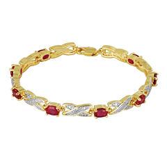 Sparkle Allure Lab Created Ruby Tennis Bracelet