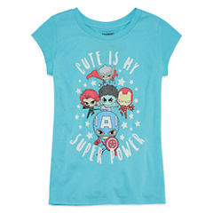 Super Heros Cute T-Shirt- Girls' 7-16