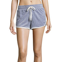 Flirtitude Velour Soft Shorts-Juniors