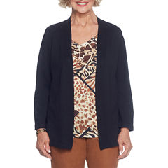 Alfred Dunner Jungle Habitat Layered Sweater