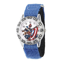 Marvel® Captain America Boys Blue Strap Watch