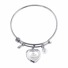 Disney Womens Silver Over Brass Charm Bracelet